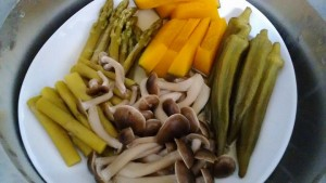 蒸し野菜(蒸し過ぎ)